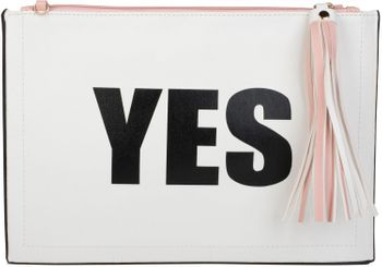 "styleBREAKER ""YES"" or ""NO"" print clutch, tassel pendant upon zipper, arm and shoulder strap, ladies 02012078 – Bild 12"
