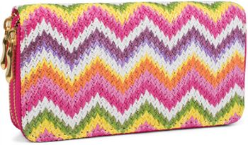 styleBREAKER zig zag pattern ethno design purse with, zipper, wallet, ladies 02040049 – Bild 1