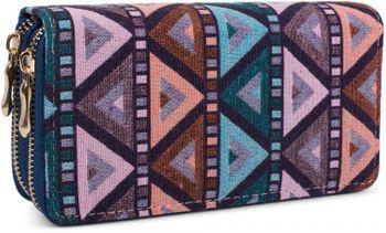 styleBREAKER aztec ethno look purse, bohemian style, zipper, wallet, ladies 02040050 – Bild 2