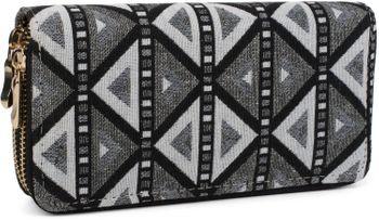 styleBREAKER Geldbörse im Ethno Look mit Azteken Muster, Boho Style, Reißverschluss, Portemonnaie, Damen 02040050 – Bild 3