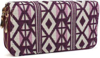 styleBREAKER ethnic-style wallet with diamond pattern, all-around zip, wallet, women 02040051 – Bild 4