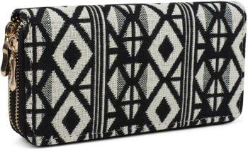styleBREAKER ethnic-style wallet with diamond pattern, all-around zip, wallet, women 02040051 – Bild 5