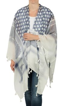 styleBREAKER poncho with colorful square pattern, women 08010027 – Bild 2