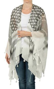 styleBREAKER poncho with colorful square pattern, women 08010027 – Bild 3