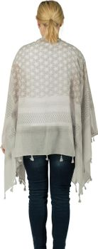 styleBREAKER poncho with colorful square pattern, women 08010027 – Bild 16
