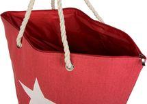 styleBREAKER große XXL Strandtasche mit Stern Print, Schultertasche, Shopper, Badetasche, Damen 02012079 – Bild 14