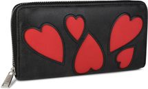 styleBREAKER wallet with heart cut-out pattern and decorative stitching, all-around zip, wallet, women 02040054 – Bild 3