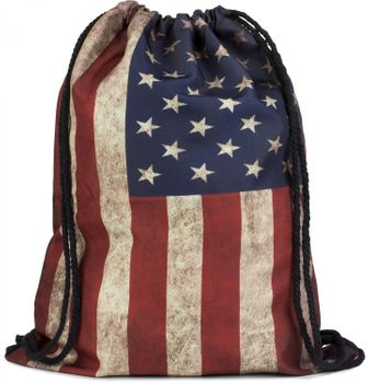 styleBREAKER Turnbeutel Rucksack im USA Stars and Stripes Vintage Design, Sportbeutel, Unisex 02012081 – Bild 1