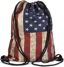 styleBREAKER Turnbeutel Rucksack im USA Stars and Stripes Vintage Design, Sportbeutel, Unisex 02012081 – Bild 2