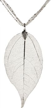 styleBREAKER necklace with filigree tree leaf pendant, 3 chains, lobster clasp, women 05030018 – Bild 4