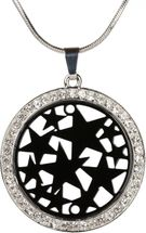 styleBREAKER necklace with round star pendant set with rhinestones, snake chain, lobster clasp, women 05030020 – Bild 3