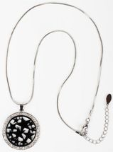 styleBREAKER necklace with round star pendant set with rhinestones, snake chain, lobster clasp, women 05030020 – Bild 5