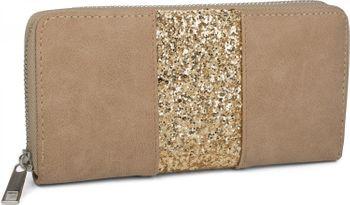 styleBREAKER Geldbörse mit umlaufendem Pailletten Streifen, Reißverschluss, Portemonnaie, Damen 02040056 – Bild 3