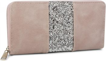 styleBREAKER wallet with all-around sequinned stripes, zip, wallet, women 02040056 – Bild 9