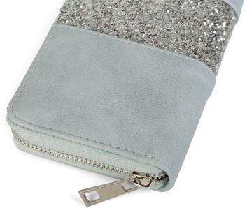 styleBREAKER Geldbörse mit umlaufendem Pailletten Streifen, Reißverschluss, Portemonnaie, Damen 02040056 – Bild 16