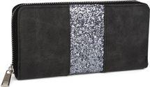 styleBREAKER Geldbörse mit umlaufendem Pailletten Streifen, Reißverschluss, Portemonnaie, Damen 02040056 – Bild 2