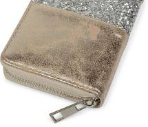 styleBREAKER Geldbörse mit umlaufendem Pailletten Streifen, Reißverschluss, Portemonnaie, Damen 02040056 – Bild 12
