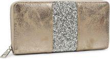 styleBREAKER Geldbörse mit umlaufendem Pailletten Streifen, Reißverschluss, Portemonnaie, Damen 02040056 – Bild 11