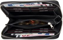 styleBREAKER Geldbörse mit quer verlaufendem Pailletten Streifen, umlaufender Reißverschluss, Portemonnaie, Damen 02040057 – Bild 13