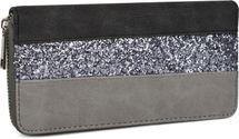 styleBREAKER wallet with crosswise running sequinned stripes, all-around zip, wallet, women 02040057 – Bild 2