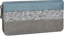 styleBREAKER Geldbörse mit quer verlaufendem Pailletten Streifen, umlaufender Reißverschluss, Portemonnaie, Damen 02040057 – Bild 4