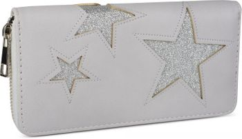 styleBREAKER purse with star cutout print of contrasting colour, circumferential zipper, women 02040037 – Bild 4