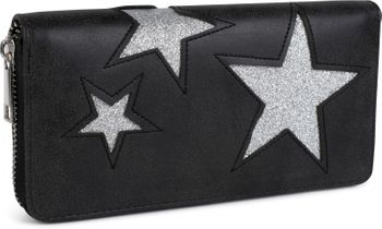 styleBREAKER purse with star cutout print of contrasting colour, circumferential zipper, women 02040037 – Bild 1