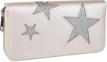 styleBREAKER purse with star cutout print of contrasting colour, circumferential zipper, women 02040037 – Bild 6