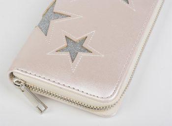 styleBREAKER Geldbörse mit glitzerndem Stern Cutout Muster und Ziernaht, Reißverschluss, Portemonnaie, Damen 02040058 – Bild 13