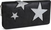 styleBREAKER Geldbörse mit glitzerndem Stern Cutout Muster und Ziernaht, Reißverschluss, Portemonnaie, Damen 02040058 – Bild 2
