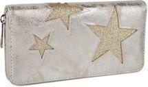 styleBREAKER Geldbörse mit glitzerndem Stern Cutout Muster und Ziernaht, Reißverschluss, Portemonnaie, Damen 02040058 – Bild 5