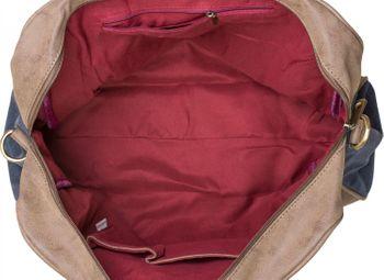 styleBREAKER Canvas Shopper Tasche mit aufgenähtem Stern, Kunstleder Applikationen, Schultertasche, Umhängetasche, Damen 02012083 – Bild 11