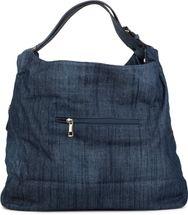 styleBREAKER Jeans Beuteltasche mit glitzer Strass Stern, Strassnieten, Schultertasche, Shopper, Damen 02012085 – Bild 5