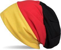 styleBREAKER Beanie Mütze im Deutschland Flaggen Design, Streifen Muster, Fanartikel, Unisex 04024072 – Bild 1