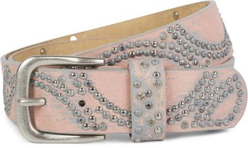 styleBREAKER vintage riveted belt with glittering rhinestones and rivets in circular arrangement, women 03010066 – Bild 34