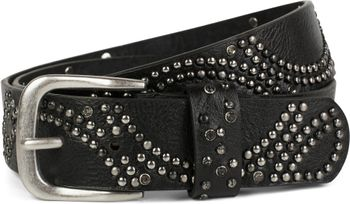 styleBREAKER vintage riveted belt with glittering rhinestones and rivets in circular arrangement, women 03010066 – Bild 4