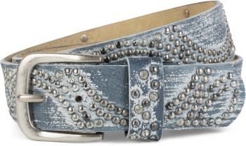 styleBREAKER vintage riveted belt with glittering rhinestones and rivets in circular arrangement, women 03010066 – Bild 36
