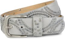 styleBREAKER vintage riveted belt with glittering rhinestones and rivets in circular arrangement, women 03010066 – Bild 31
