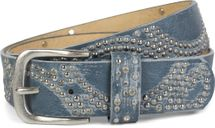 styleBREAKER vintage riveted belt with glittering rhinestones and rivets in circular arrangement, women 03010066 – Bild 35