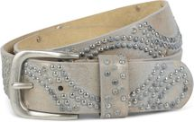 styleBREAKER vintage riveted belt with glittering rhinestones and rivets in circular arrangement, women 03010066 – Bild 33