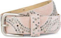 styleBREAKER vintage riveted belt with glittering rhinestones and rivets in circular arrangement, women 03010066 – Bild 38
