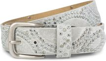styleBREAKER vintage riveted belt with glittering rhinestones and rivets in circular arrangement, women 03010066 – Bild 40
