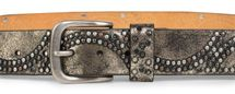 styleBREAKER vintage riveted belt with glittering rhinestones and rivets in circular arrangement, women 03010066 – Bild 10