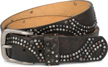 styleBREAKER vintage riveted belt with glittering rhinestones and rivets in circular arrangement, women 03010066 – Bild 3