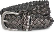 styleBREAKER Gürtel in doppel Flecht Optik im Vintage Style mit Strass Schmuckband an der Schließe, Flechtgürtel, One Size, Unisex 03010067 – Bild 7