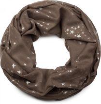 styleBREAKER loop tube scarf with glittering metallic stars all-over print pattern, scarf, kerchief, women 01016118 – Bild 2