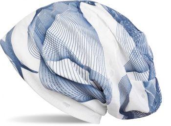 styleBREAKER Beanie Mütze mit asymetrischem Guilloche Muster im Destroyed Vintage Look, Unisex 04024073 – Bild 2