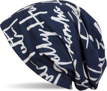 styleBREAKER Beanie Hat with All Over Printed Character Pattern, Slouch Longbeanie, Unisex 04024075 – Bild 2