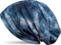 styleBREAKER Destroyed Vintage used Look Beanie Mütze im washed Batik Design, Slouch Longbeanie, Unisex 04024080 – Bild 5