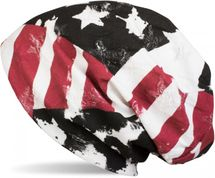 styleBREAKER Beanie Mütze im USA Flag Stars & Stripes Destroyed Vintage Look, Slouch Longbeanie, Unisex 04024079 – Bild 1